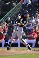 TEMPE, AZ - MARCH 4:  Jordan Danks #76 of the Chicago White Sox bats against the Los Angeles Angels on March 4, 2010 at Tempe Diablo Stadium in Tempe, Arizona. (Photo by Ron Vesely)