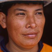 Travel portrait of Worker, in Mindo, Ecuador