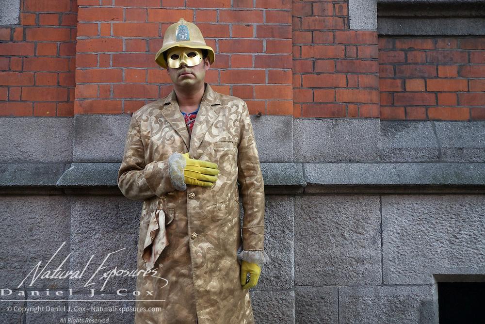Street actor, Dublin, Ireland.