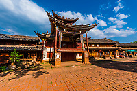 Sideng Theater in Sideng Square in the market town of Shaxi, on the Tea Horse Caravan Road, which links Southern Yunnan to Tibet and Burma and retains its position as one of the best preserved historic market hubs today. Yunnan Province, China.