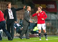 Bjarne Berntsen, Isabell Herlovsen, QF, Sweden-Norway, Women's EURO 2009 in Finland, 09042009, Helsinki Football Stadium