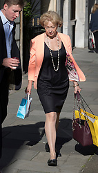 © Licensed to London News Pictures. 14/07/2016. London, UK. Former Conservative Party leadership candidate Andrea Leadsom is seen near Parliament as Prime Minister Theresa May starts her first full day in office. Photo credit: Peter Macdiarmid/LNP