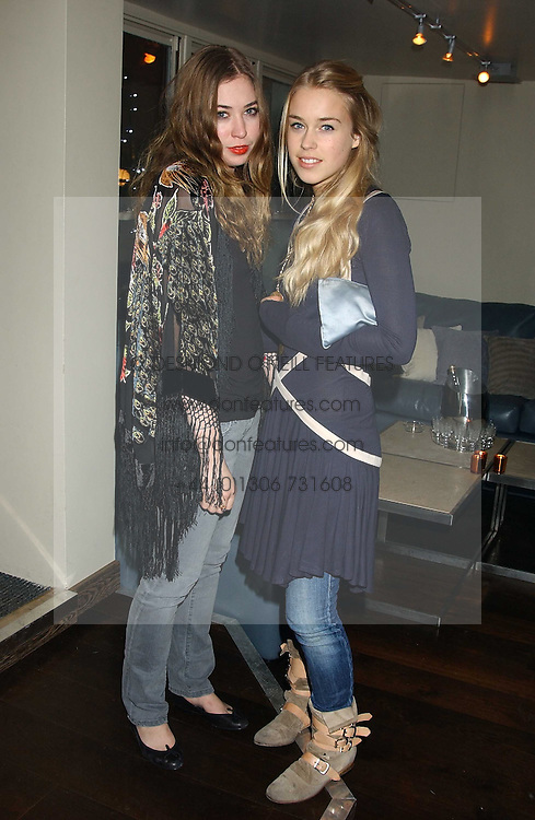 Left to right, ANOUSKA GERHAUSER daughter of Tamara Beckwith and MARY CHARTERIS at the launch of a new bar Bardo, 101-105 Walton Street, London SW3 on 29th November 2005.<br /><br />NON EXCLUSIVE - WORLD RIGHTS