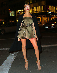 Hailey Baldwin at the opening of the Fendi Flagship Store in Ne York, USA.