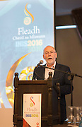 Micheál Ó Riabhaigh  Chairman speaking  at the Fleadh  Cheoil na hÉireann Inis 2016 information evening at Treacy's West County Hotel on Thursday evening. Photograph by Eamon Ward