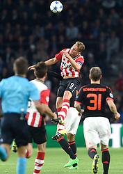 15-09-2015 NED: UEFA CL PSV - Manchester United, Eindhoven<br /> PSV kende een droomstart in de Champions League. De Eindhovenaren waren in eigen huis te sterk voor de miljoenenploeg Manchester United: 2-1 / Luuk de Jong #9