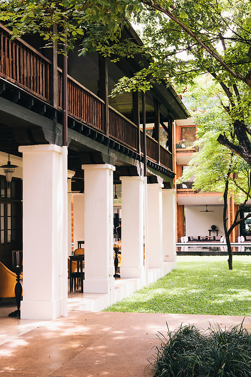 View of former Britsh Consul's residence at the Anantara Chiang Mai Resort & Spa