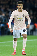 Manchester United forward Mason Greenwood during the Champions League Round of 16 2nd leg match between Paris Saint-Germain and Manchester United at Parc des Princes, Paris, France on 6 March 2019.