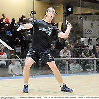 17 October 2012; Diarmaid Nash, Co. Clare, in action during his match against Caolon Daly, Co. Tyrone, in their Men's Under 23 Final. World Handball Championships, Citywest Hotel & Conference Centre, Saggart, Co. Dublin. Picture credit: Matt Browne / SPORTSFILE