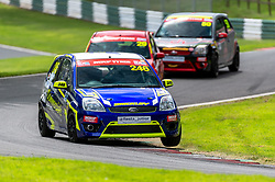 Jenson Brickley in action while competing in the BRSCC Fiesta Junior Championship. Picture taken at Cadwell Park on August 1 & 2, 2020 by BRSCC photographer Jonathan Elsey