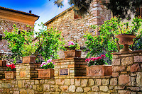 """Decorative Wall around the New Church of St. Francis of Assisi""...<br />