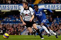 Photo: Ed Godden.<br />Chelsea v Fulham. The Barclays Premiership. 30/12/2006.<br />Fulham's Moritz Volz (L), is followed by Michael Essien.