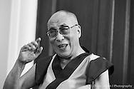 Press conference at the Nobel Institute. Dalai Lama