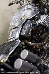 Visit to Hot Dock Custom Motorcycles after Mooneyes. Tokyo, Japan. December 8, 2015.  Photography ©2015 Michael Lichter.