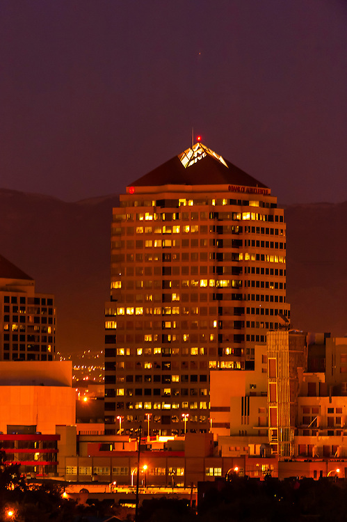 Bank of Albuquerque Tower building, downtown Albuquerque, New Mexico USA
