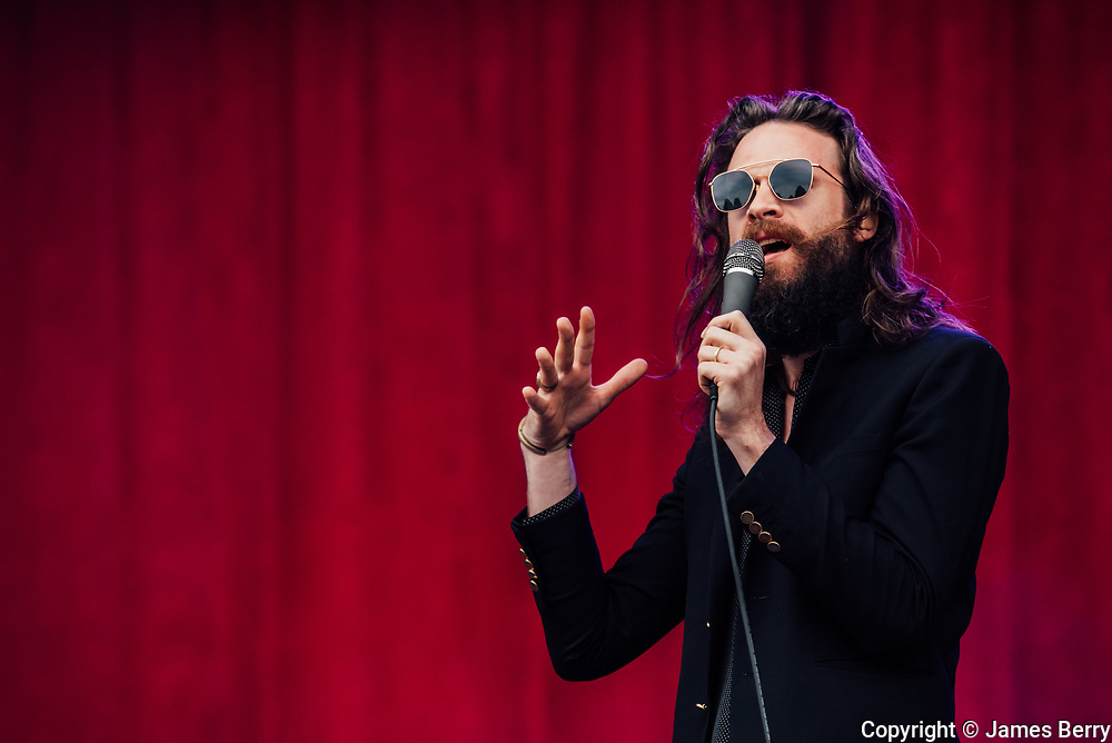 Father John Misty (real name Joshua Michael Tillman) performs live on the Obelisk Stage at Latitude Festival on Friday 15 July 2016.
