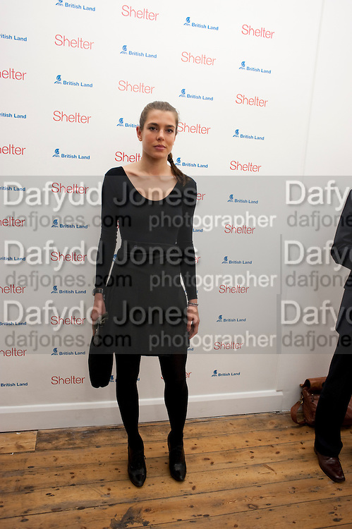 CHARLOTTE CASIRAGHI, Hoxton Sq projects auction in aid of Shelter. .- Hoxton sq. Gallery. 24 November 2010. . -DO NOT ARCHIVE-© Copyright Photograph by Dafydd Jones. 248 Clapham Rd. London SW9 0PZ. Tel 0207 820 0771. www.dafjones.com.