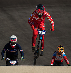 August 10, 2018 - Glasgow, UNITED KINGDOM - 180810 Simone Tetsche Christensen of Denmark competes in the qualifications of BMX cycling during the European Championships on August 10, 2018 in Glasgow..Photo: Joel Marklund / BILDBYRN / kod JM / 87773 (Credit Image: © Joel Marklund/Bildbyran via ZUMA Press)