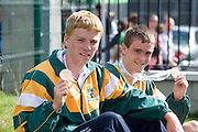 Eoin O Carroll, from Tralee who won the 100m U/16  and Conor O Mahony Tralee who won the Marathon at the HSE Community Games National Finals 2010 in the AIT in Athlone. Photo:Andrew Downes