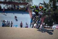#21 (REYNOLDS Lauren) AUS during practice at Round 9 of the 2019 UCI BMX Supercross World Cup in Santiago del Estero, Argentina