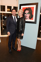 TAMARA BECKWITH and GIORGIO VERONI at a private view of work by Andy Warhol at The Little Black Gallery, Park Walk, London SW10 on 22nd October 2013.
