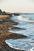 Beach coastline in western Cyprus