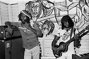 Sly Dunbar with Peter Tosh during the Don't Look Back video shoot - Kingston jamaica - 1978