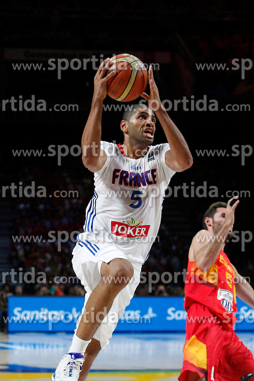 10.09.2014, Palacio de los deportes, Madrid, ESP, FIBA WM, Frankreich vs Spanien, Viertelfinale, im Bild France´s Batum // during FIBA Basketball World Cup Spain 2014 Quarter-Final match between France and Spain at the Palacio de los deportes in Madrid, Spain on 2014/09/10. EXPA Pictures © 2014, PhotoCredit: EXPA/ Alterphotos/ Victor Blanco<br /> <br /> *****ATTENTION - OUT of ESP, SUI*****