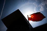 April 10-12, 2015: Chinese Grand Prix - Chinese flag at Shanghai Intl. Circuit.