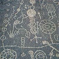 Ancient Native American petroglyphs document long human habitation in the Owens Valley of California.