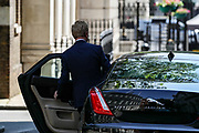 Secretary of State for Digital, Culture, Media and Sports Oliver Dowden, leave 10 Downing Street on Wednesday, June 24, 2020. (Photo/ Vudi Xhymshiti)