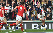 Twickenham. Great Britain.<br /> Antong WATSON, running in for a touch down during the RBS Six Nations Rugby, England vs Wales at the RFU Twickenham Stadium. England.<br /> <br /> Saturday  12/03/2016 <br /> <br /> [Mandatory Credit; Peter Spurrier/Intersport-images]