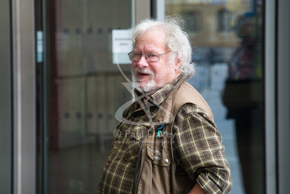 London, July 16th 2017. Film and television personality BILL ODDIE at the BBC's Broadcasting House in London