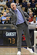BYU head coach Dave Rose reacts to a foul called on his team during the second half of an NCAA college basketball game against St. Mary's in Provo, Utah, Saturday, Jan. 28, 2012. Rose was charged with a technical foul for the outburst. (AP Photo/Colin E Braley)