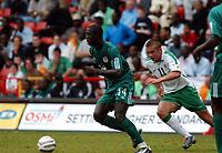 REPUBLIC OF IRELAND/NIGERIA UNITY CUP 29.05.04 <br />PHOTO TIM PARKER FOTOSPORTS INTERNATIONAL<br />SEYI OLOFINJANA NIGERIA & STEPHEN MCPHAIL IRELAND