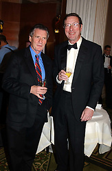 Left to right, MICHAEL PALIN and SIR MAX HASTINGS at the 2005 British Book Awards held at The Grosvenor House Hotel, Park lane, London on 20th April 2005.<br /><br />NON EXCLUSIVE - WORLD RIGHTS