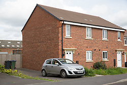 © Licensed to London News Pictures. 07/08/2017. Oldbury,West Midlands, UK. The scene in Pel Crescent, Oldbury, West Midlands believed to be the house of a double suicide.  Photo credit: Dave Warren/LNP