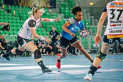 Oceane Sercien Ugolin of Slovenia during handball match between RK Krim Mercator (SLO) and Vipers Kristiansand (NOR), on September 12, 2020 in Arena Stožice, Ljubljana, Slovenia. Photo by Sinisa Kanizaj / Sportida