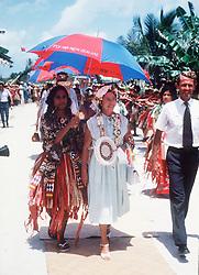Princess Margaret arrives in Tuvulu in 1978.