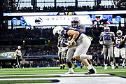 Penn State Nittany Lions tight end Pat Freiermuth (14) convert on a 2 point conversion against the Memphis Tigers during the game of the NCAA Cotton Bowl Classic football game, Saturday, Dec. 28, 2019 at AT&T Stadium in Arlington, Texas. Penn State defeated Memphis 53-39. (Mario Terrana/Image of Sport)