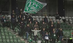 Stående Viborg-fans overtræder Covid-19 restriktionerne under kampen i 1. Division mellem Viborg FF og FC Helsingør den 30. oktober 2020 på Energi Viborg Arena (Foto: Claus Birch).