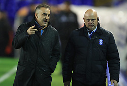 Sheffiled Wednesday's manager Carlos Carvalhal (left)