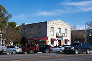 Historic buildings in the town of Fredericksburg, Texas