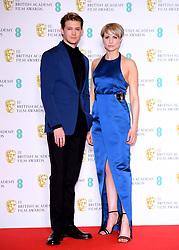 Joe Alwyn and Niamh Algar in the press room at the 73rd British Academy Film Awards held at the Royal Albert Hall, London.