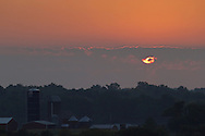 Town of Wallkill, New York - A sunrise scene at Smiley Farm on Sept. 5, 2014.
