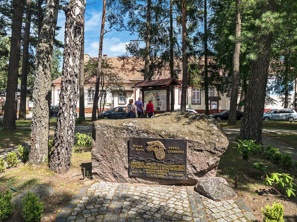 Pomnik Ofiar Totalitaryzmu. Borne Sulinowo, była baza Północnej Grupy Wojsk Radzieckich
