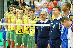 07.09.2014, Spodek, Katowice, POL, FIVB WM, Brasilien vs Kuba, Gruppe B, im Bild Brazylia // during the FIVB Volleyball Men's World Championships Pool B Match beween Brazil vs Cuba at the Spodek in Katowice, Poland on 2014/09/07. EXPA Pictures © 2014, PhotoCredit: EXPA/ Newspix/ Karol Baik<br /> <br /> *****ATTENTION - for AUT, SLO, CRO, SRB, BIH, MAZ, TUR, SUI, SWE only*****