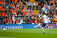 Goal England forward Marcus Rashford (Manchester United) scores a goal from the penalty spot 0-1during the UEFA Nations League semi-final match between Netherlands and England at Estadio D. Afonso Henriques, Guimaraes, Portugal on 6 June 2019.