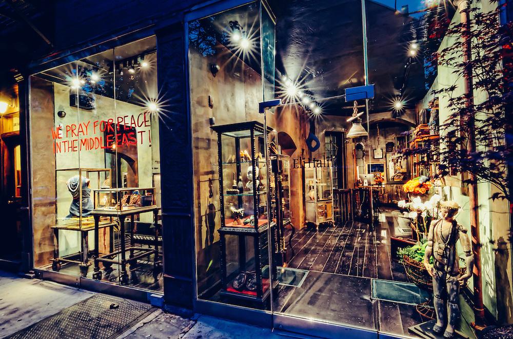 Photographs of Eli Halili Jewelry & Design at 250 Mott Street New York, NY.