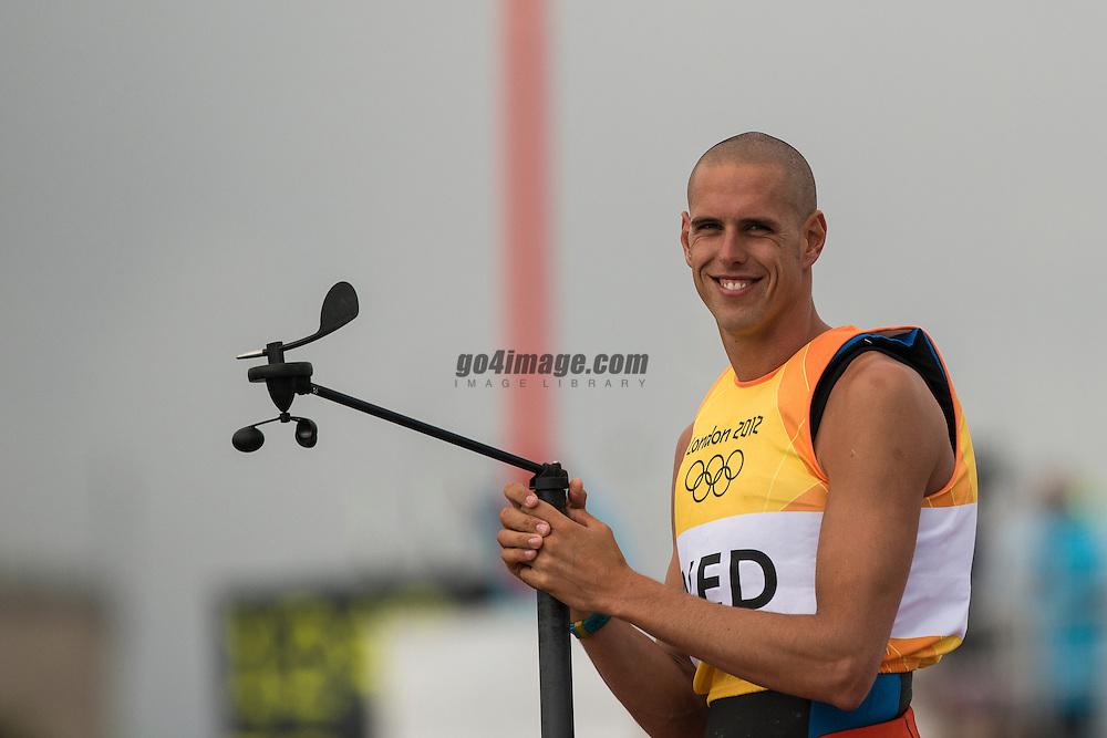 2012 Olympic Games London / Weymouth<br /> RSX Medal Race<br /> Van Rijsselberge Dorian, (NED, RS:X Men)